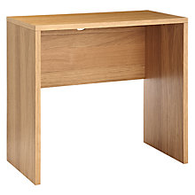 Buy John Lewis Abacus Small Desk, FSC-Certified, Oak Online at johnlewis.com