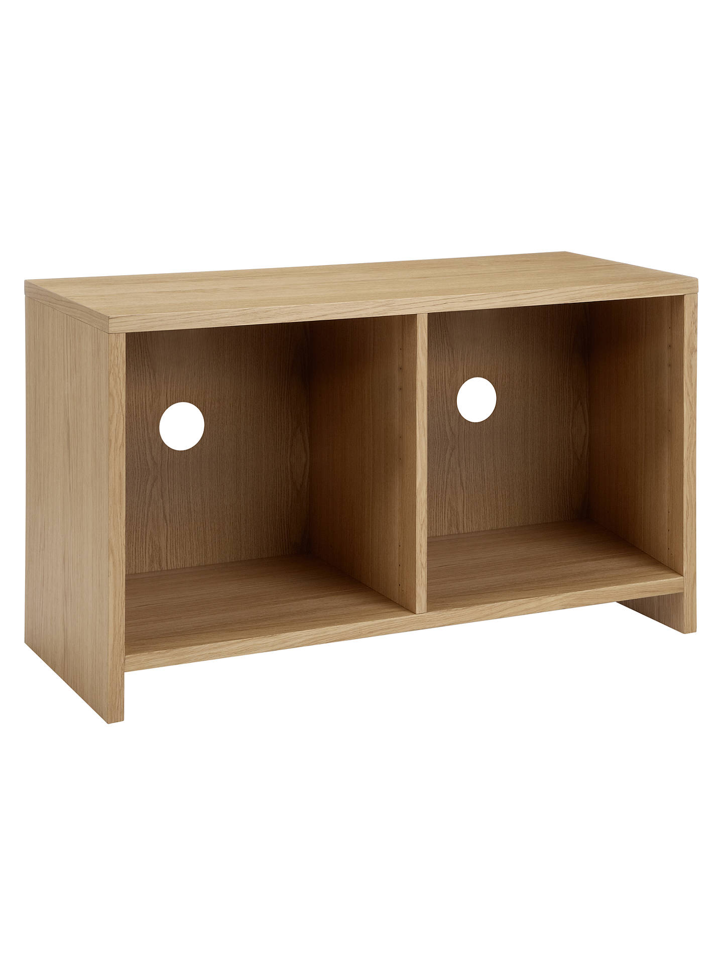 Buy House by John Lewis Oxford 2 x 1 Media Unit, FSC Oak Online at johnlewis.com