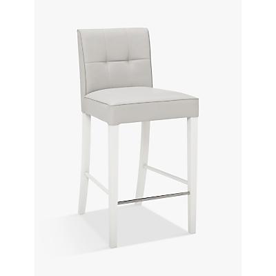 John Lewis Simone Faux Leather Bar Chair, Grey
