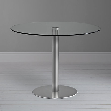 Buy John Lewis Enzo 4-Seater Round Glass Top Dining Table Online at johnlewis.com