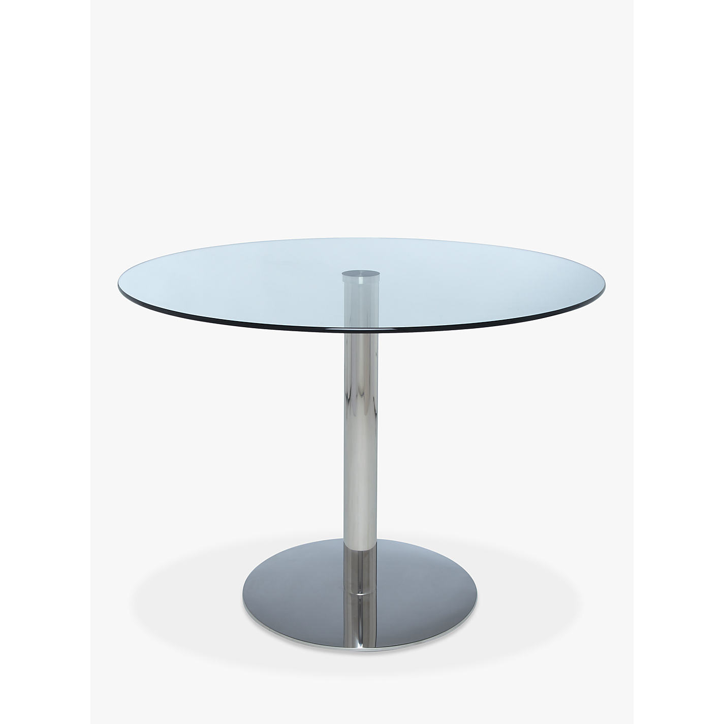 buy john lewis enzo 4 seater round glass top dining table john lewis