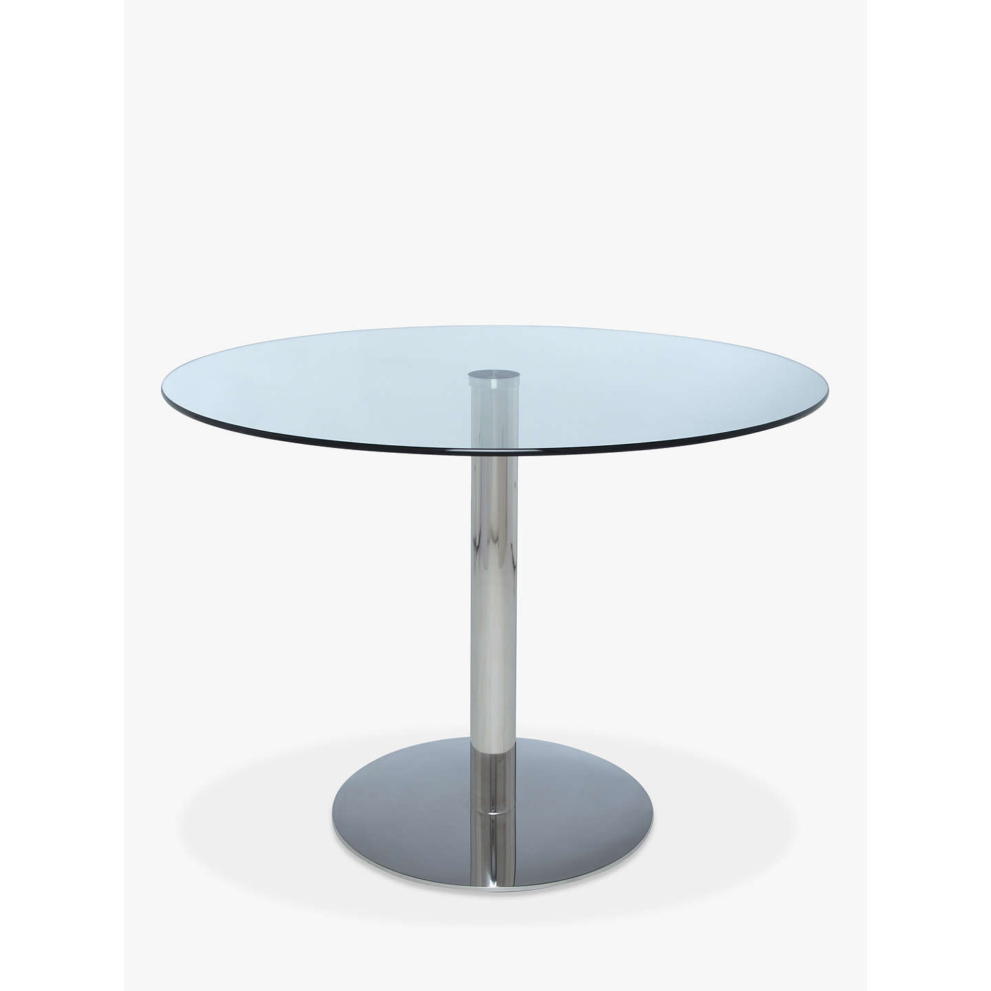 John lewis enzo 4 seater round glass top dining table at for Round glass top dining table