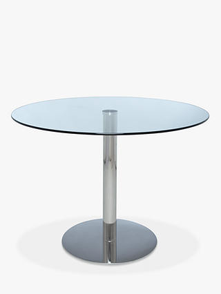 Buy John Lewis & Partners Enzo 4-Seater Round Glass Top Dining Table Online at johnlewis.com