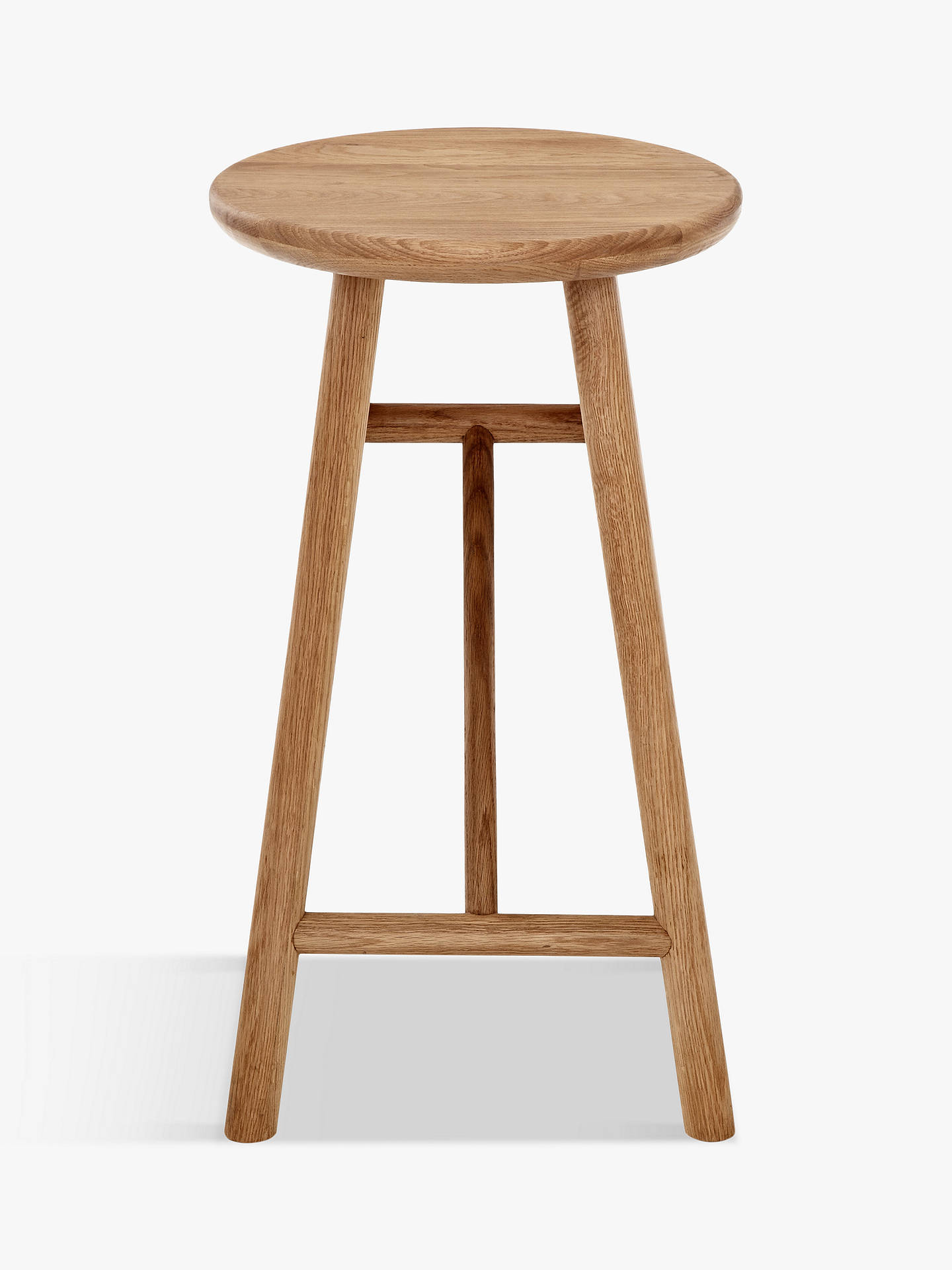 BuySays Who for John Lewis Why Wood Bar Stool, Oak Online at johnlewis.com