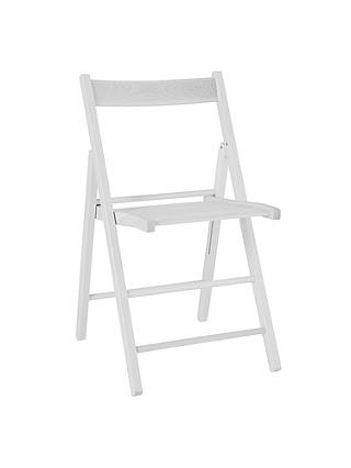 Buy John Lewis Buiani Folding Chair, Whitewash Online at johnlewis.com
