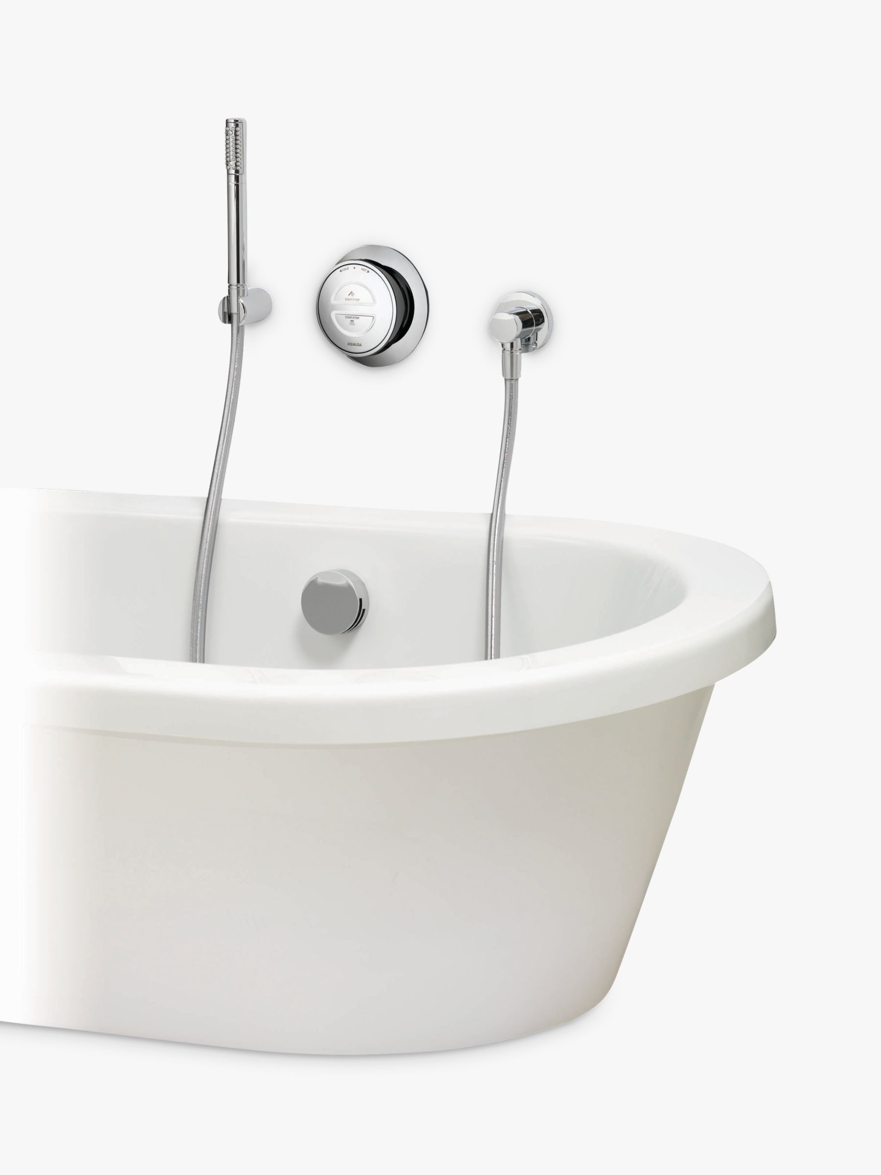 Aqualisa Aqualisa Rise XT Digital HP/Combi Bath with Overflow Filler and Hand Shower
