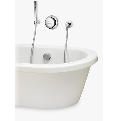 Image of Aqualisa Rise XT Digital Gravity Pumped Bath with Overflow Filler and Hand Shower