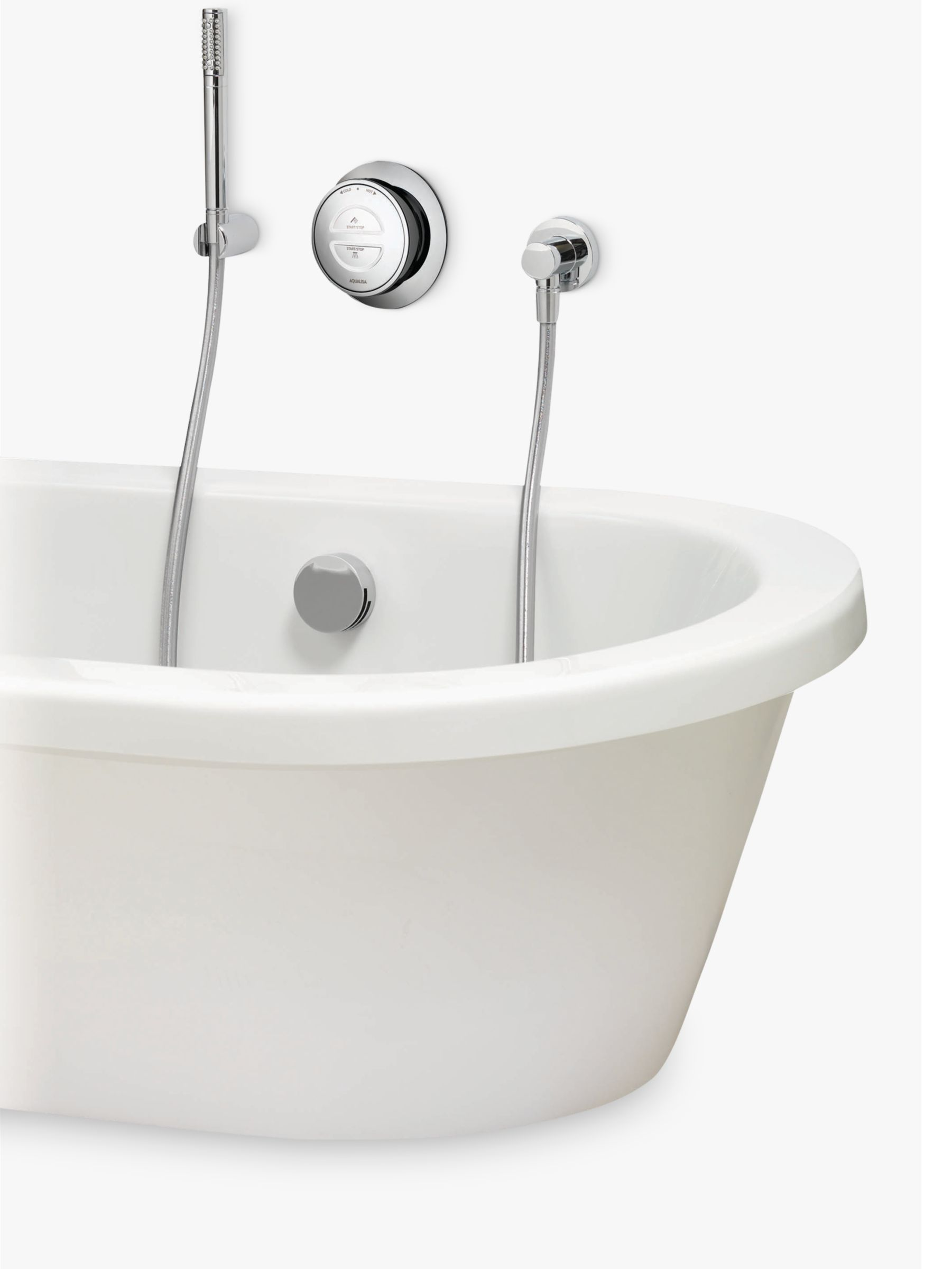 Aqualisa Aqualisa Rise XT Digital Gravity Pumped Bath with Overflow Filler and Hand Shower