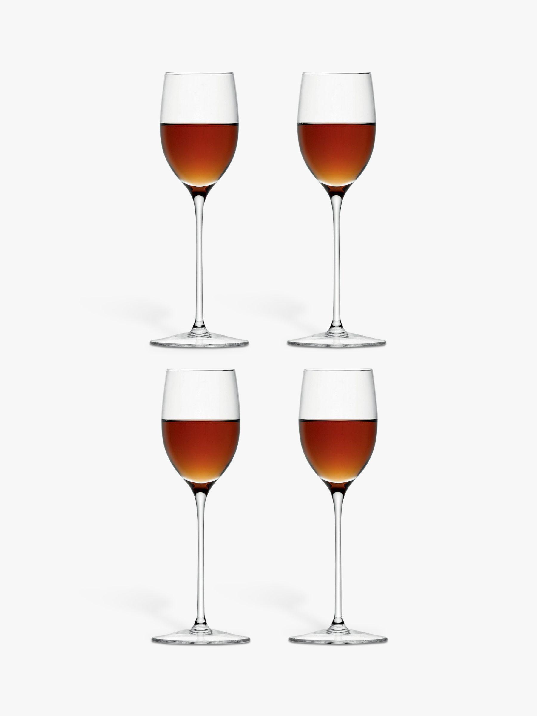 LSA International LSA International Bar Collection Sherry Glasses, Set of 4, 190ml, Clear