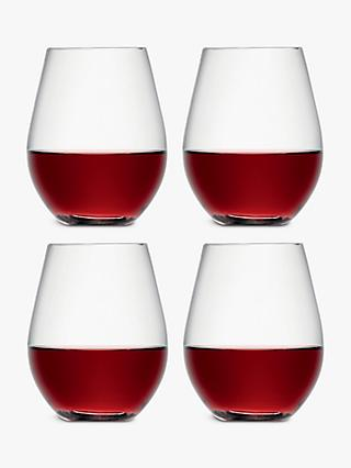 LSA International Wine Collection Stemless Red Wine Glasses, 530ml, Set of 4