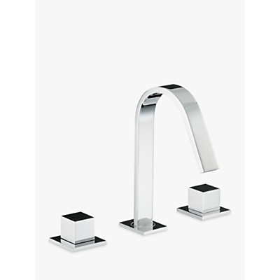 Abode Zeal Deck Mounted 3 Hole Basin Mixer Bathroom Tap