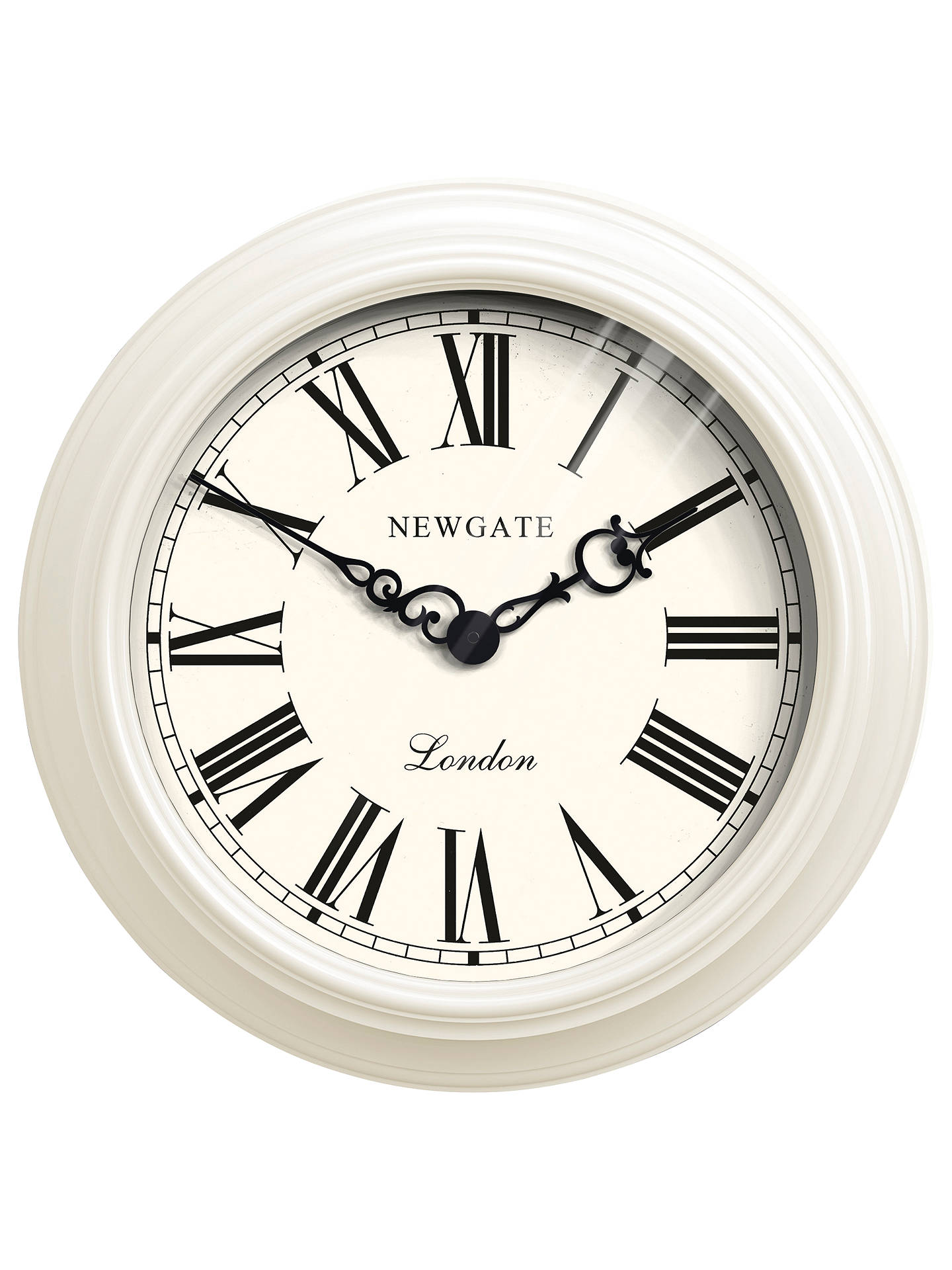 Newgate Gallery Wall Clock Dia 50cm Cream At John Lewis