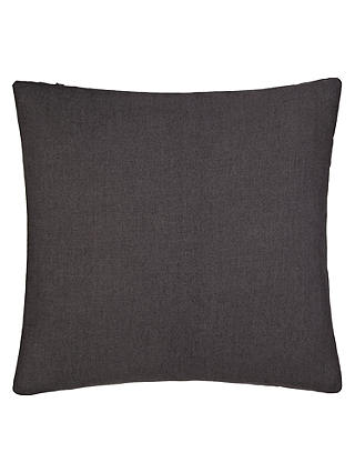 Buy John Lewis Linen Cushion, Charcoal Online at johnlewis.com