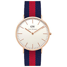 Buy Daniel Wellington Men's Classic Oxford Rose Gold NATO Strap Watch Online at johnlewis.com