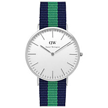 Buy Daniel Wellington 0205DW Men's Classic Warwick Stainless Steel NATO Fabric Strap Watch, Navy/Green Online at johnlewis.com