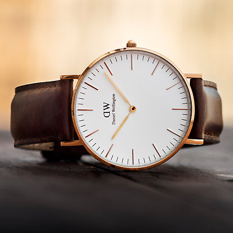 Buy Daniel Wellington Women's Sheffield Leather Strap Watch Online at johnlewis.com