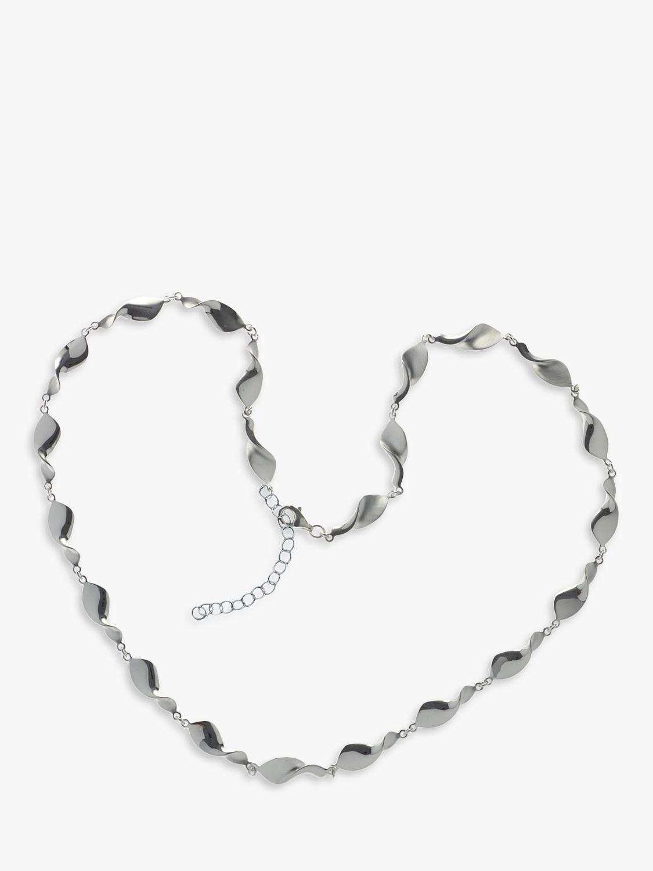 Nina B Nina B Sterling Silver Swirls Necklace