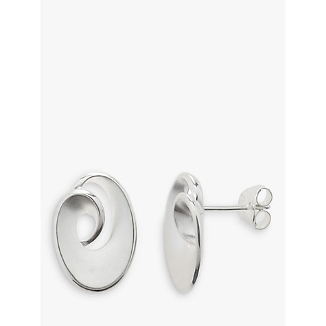 Buy Nina B Sterling Silver Satin Finish Swirl Stud Earrings Online at johnlewis.com