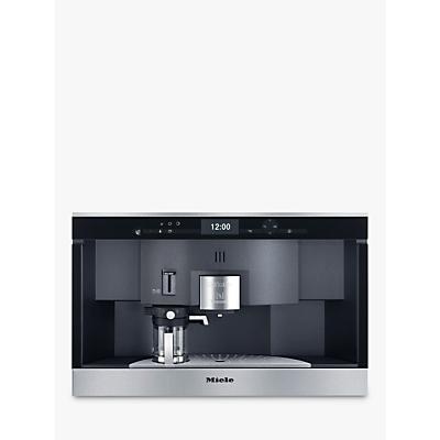 Miele CVA6431 PureLine Built In Nespresso Coffee Machine, Clean Steel
