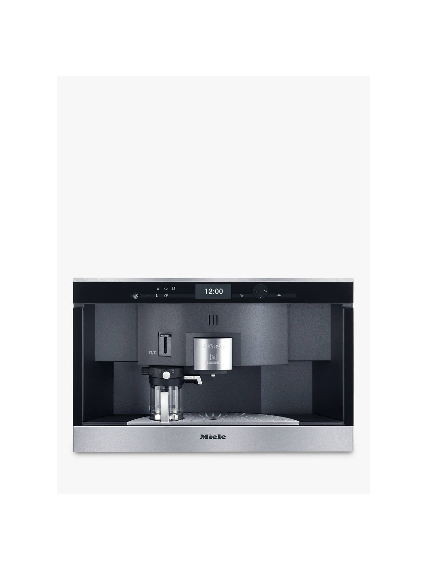 Miele Cva6431 Pureline Built In Nespresso Coffee Machine Clean Steel