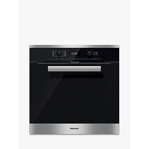 buy miele h6460bp pureline single electric oven clean. Black Bedroom Furniture Sets. Home Design Ideas