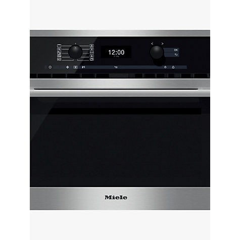 Miele H6300bm Contourline Single Electric Oven With Microwave Clean Steel Online At Johnlewis