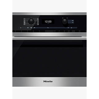 sharp r861slm. miele h6300bm contourline single electric oven with microwave, clean steel sharp r861slm c