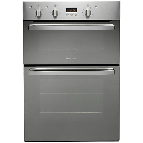 buy hotpoint dhs53xs double electric oven stainless steel. Black Bedroom Furniture Sets. Home Design Ideas
