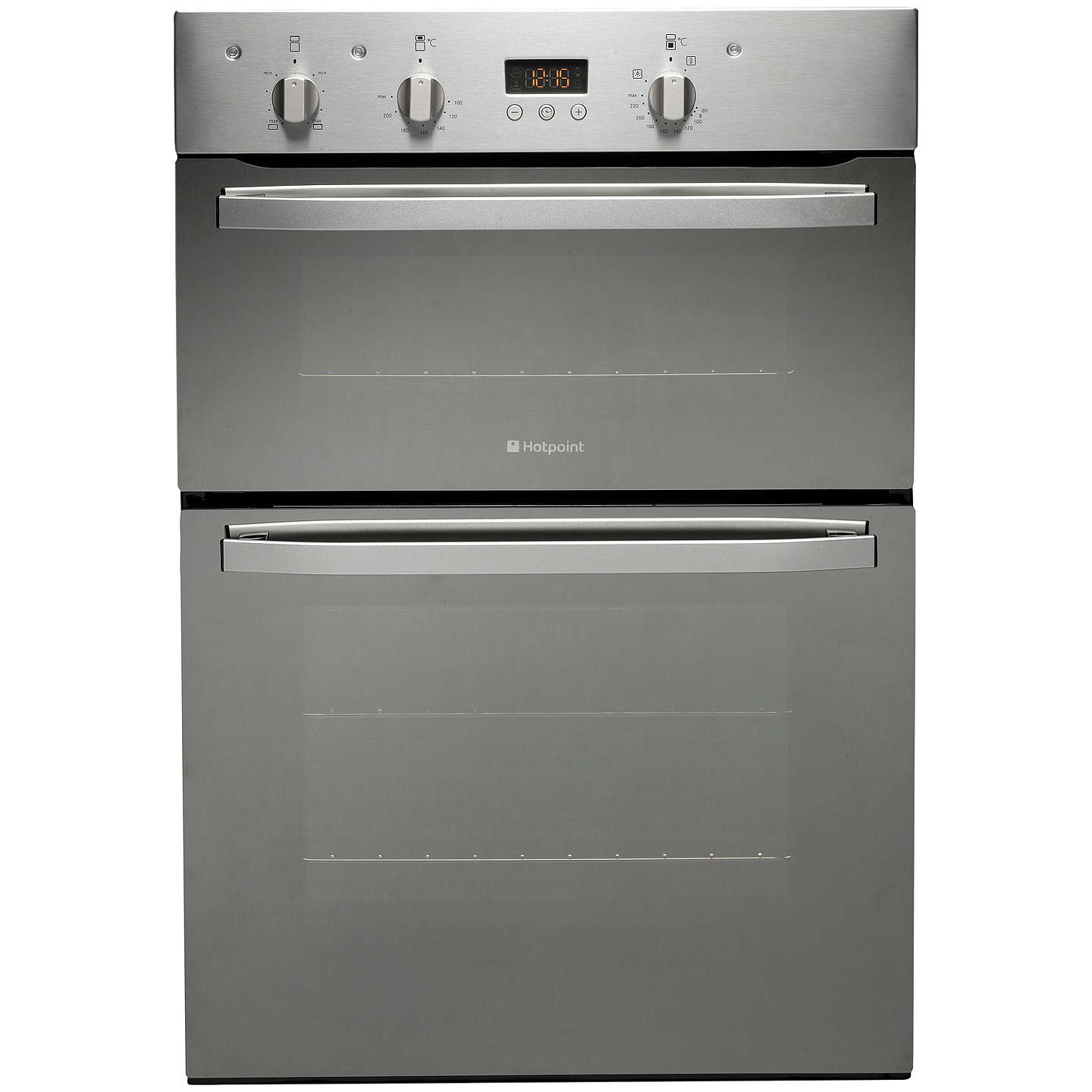 hotpoint dhs53xs double electric oven stainless steel at. Black Bedroom Furniture Sets. Home Design Ideas