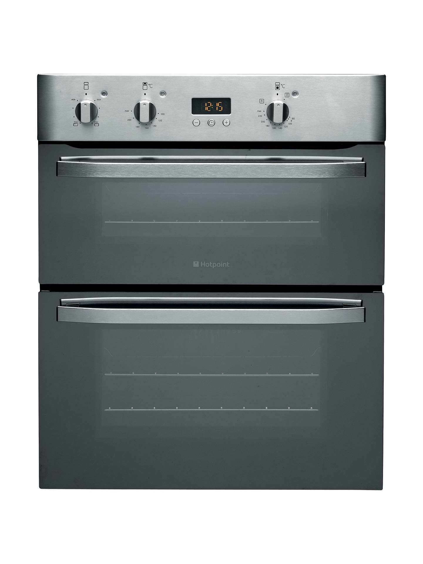 hotpoint uhs53xs double electric oven mirrored stainless. Black Bedroom Furniture Sets. Home Design Ideas
