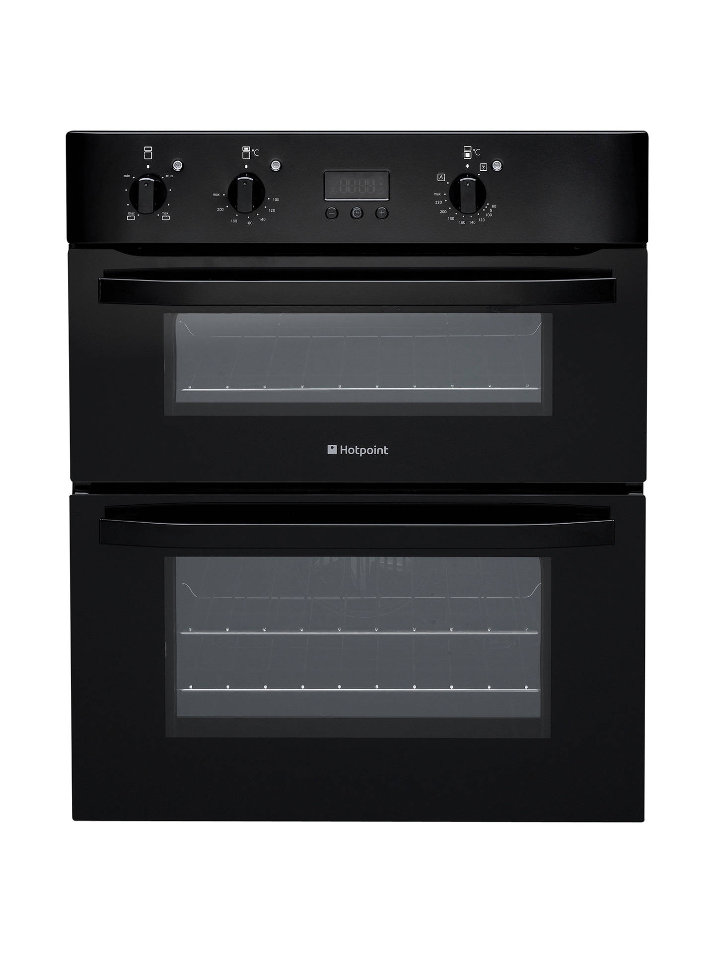 hotpoint uh53ks double electric oven black at john lewis. Black Bedroom Furniture Sets. Home Design Ideas