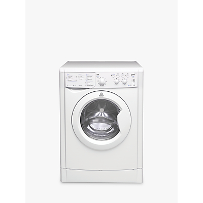 Indesit IWDC6125 Washer Dryer, 6kg Wash/5kg Dry Load, B Energy Rating, 1200rpm Spin, White