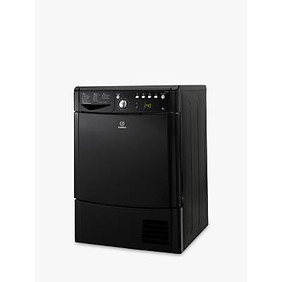 Indesit IDCE8450BKH Condenser Tumble Dryer, 8kg Load, B Energy Rating, Black