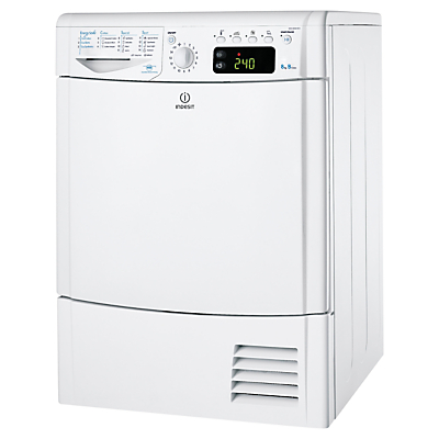 Indesit IDCE8450BH Condenser Tumble Dryer, 8kg Load, B Energy Rating, White