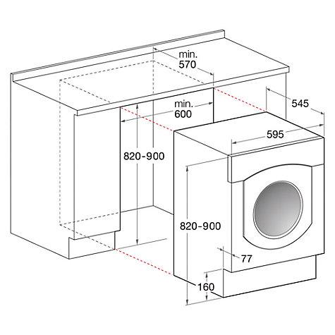 Buy Indesit IWME147(UK) Integrated Washing Machine, 7kg