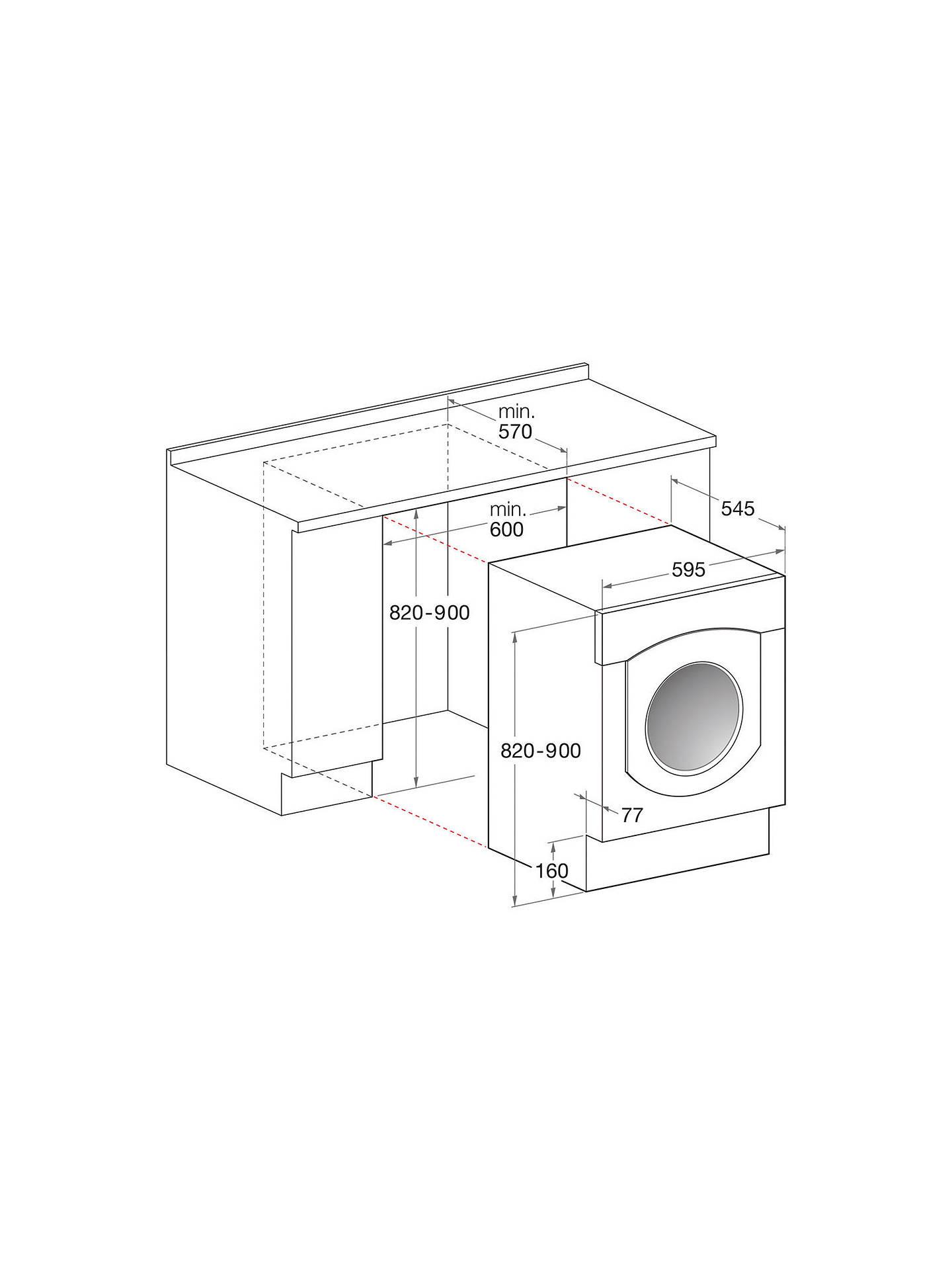 Indesit IWME147(UK) Integrated Washing Machine, 7kg Load