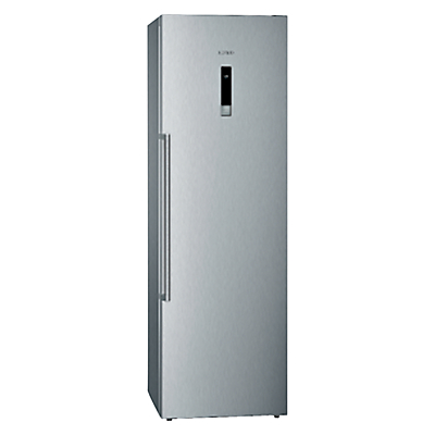 Siemens GS36NBI30 Tall Freezer, A++ Energy Rating, 60cm Wide, Stainless Steel