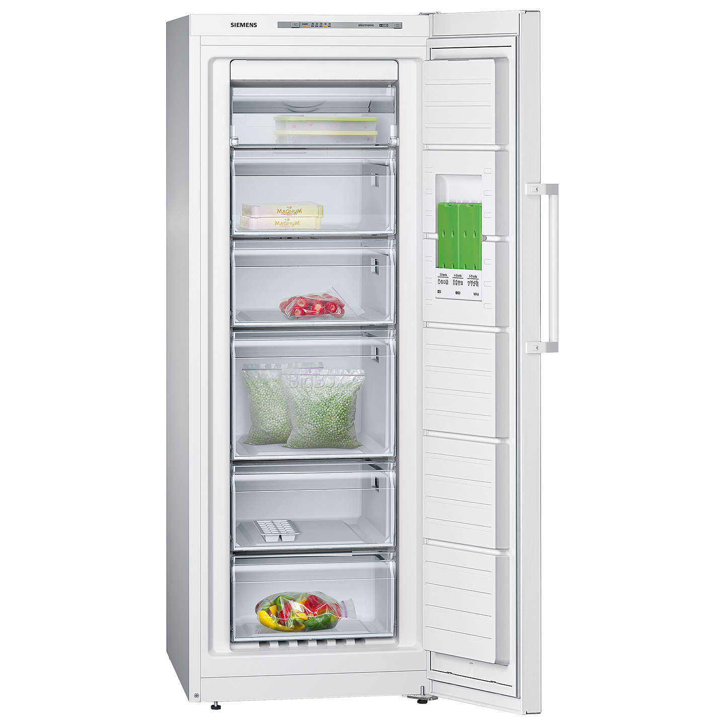 BuySiemens GS29NVW30G Tall Freezer, A++ Energy Rating, 60cm Wide, White Online at johnlewis.com