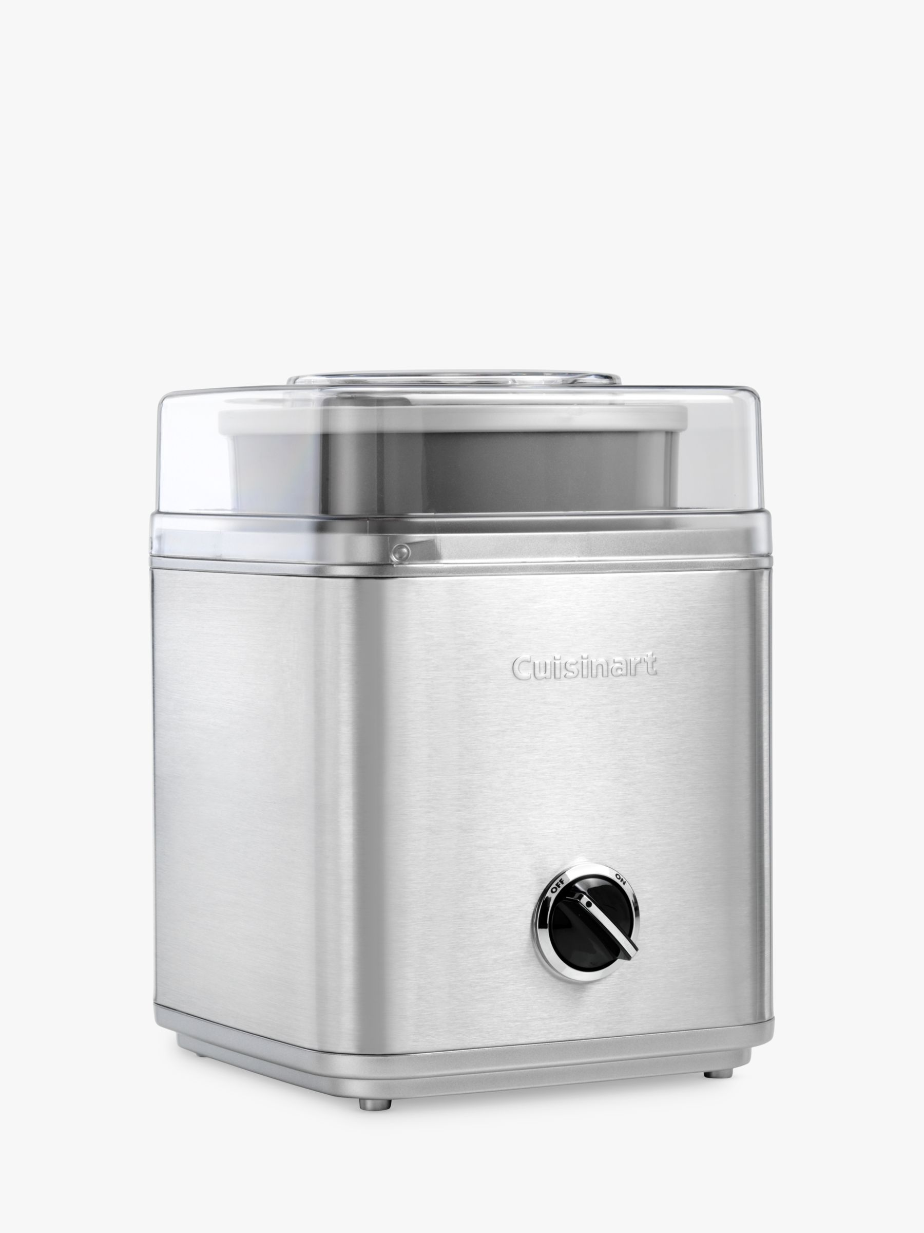 Cuisinart Ice30bcu Ice Cream Maker Silver At John Lewis Partners