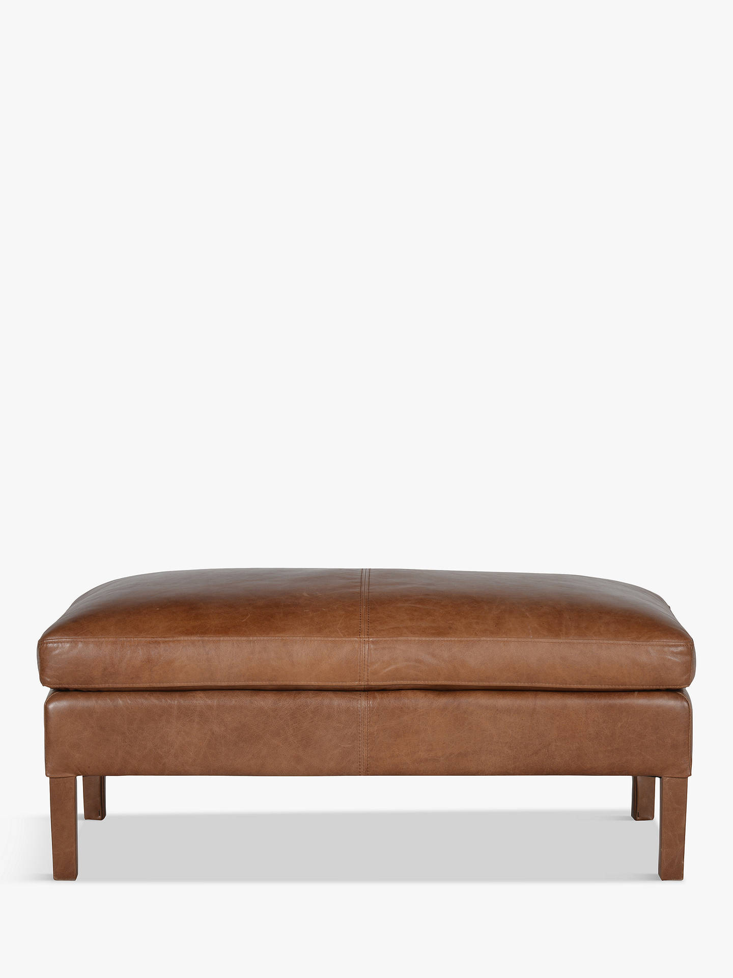 BuyHalo Groucho Leather Footstool, Riders Nut Online at johnlewis.com