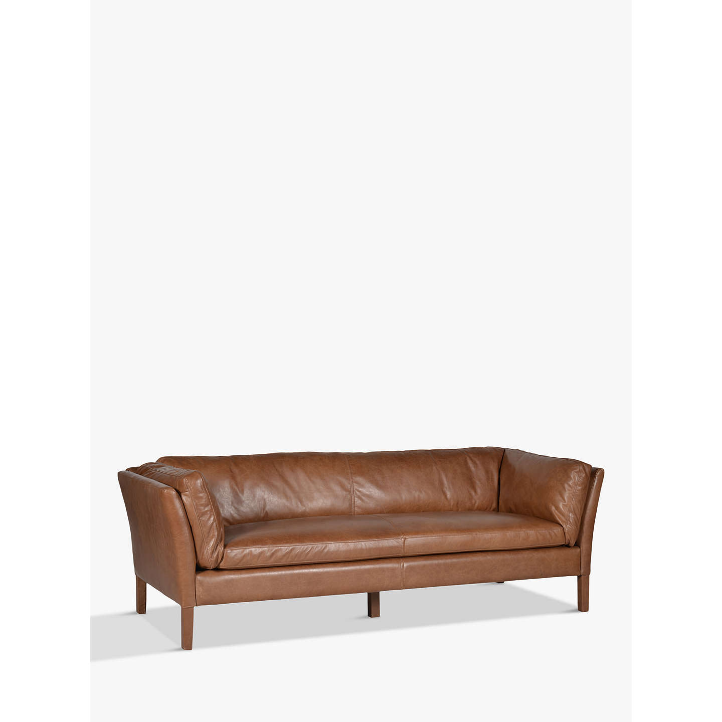 BuyHalo Groucho Large Leather Sofa, Riders Nut Online At Johnlewis.com ...