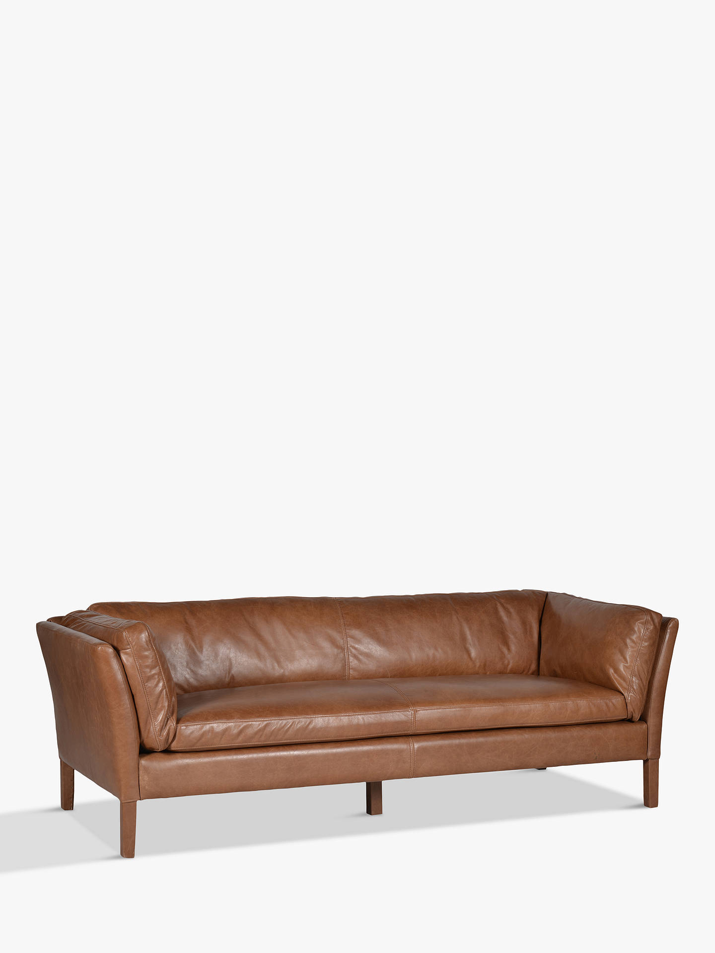 Halo Groucho Large 3 Seater Leather Sofa at John Lewis & Partners