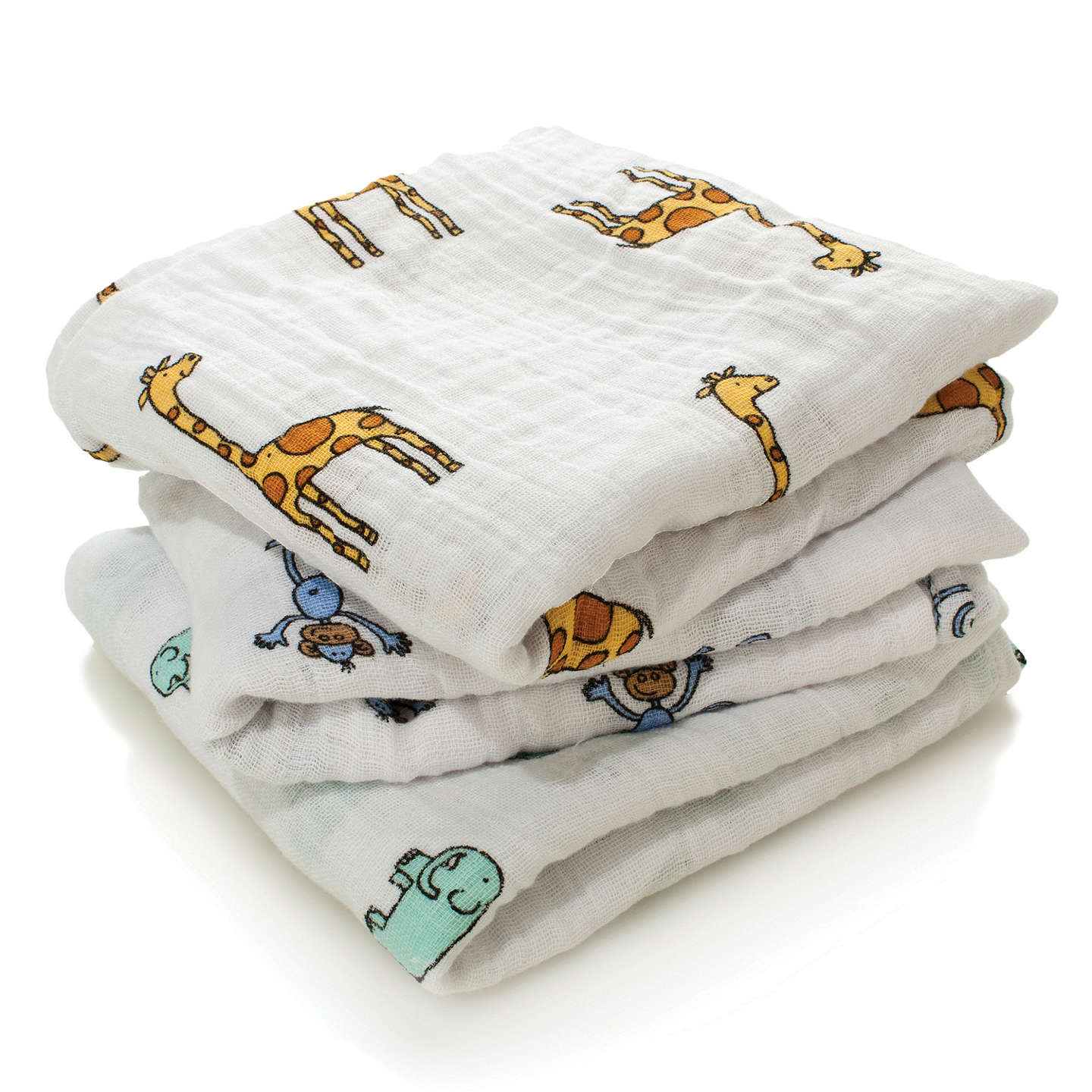 BuyAden + Anais Muslin Cloths, Pack of 3, Jungle Jam Online at johnlewis.com