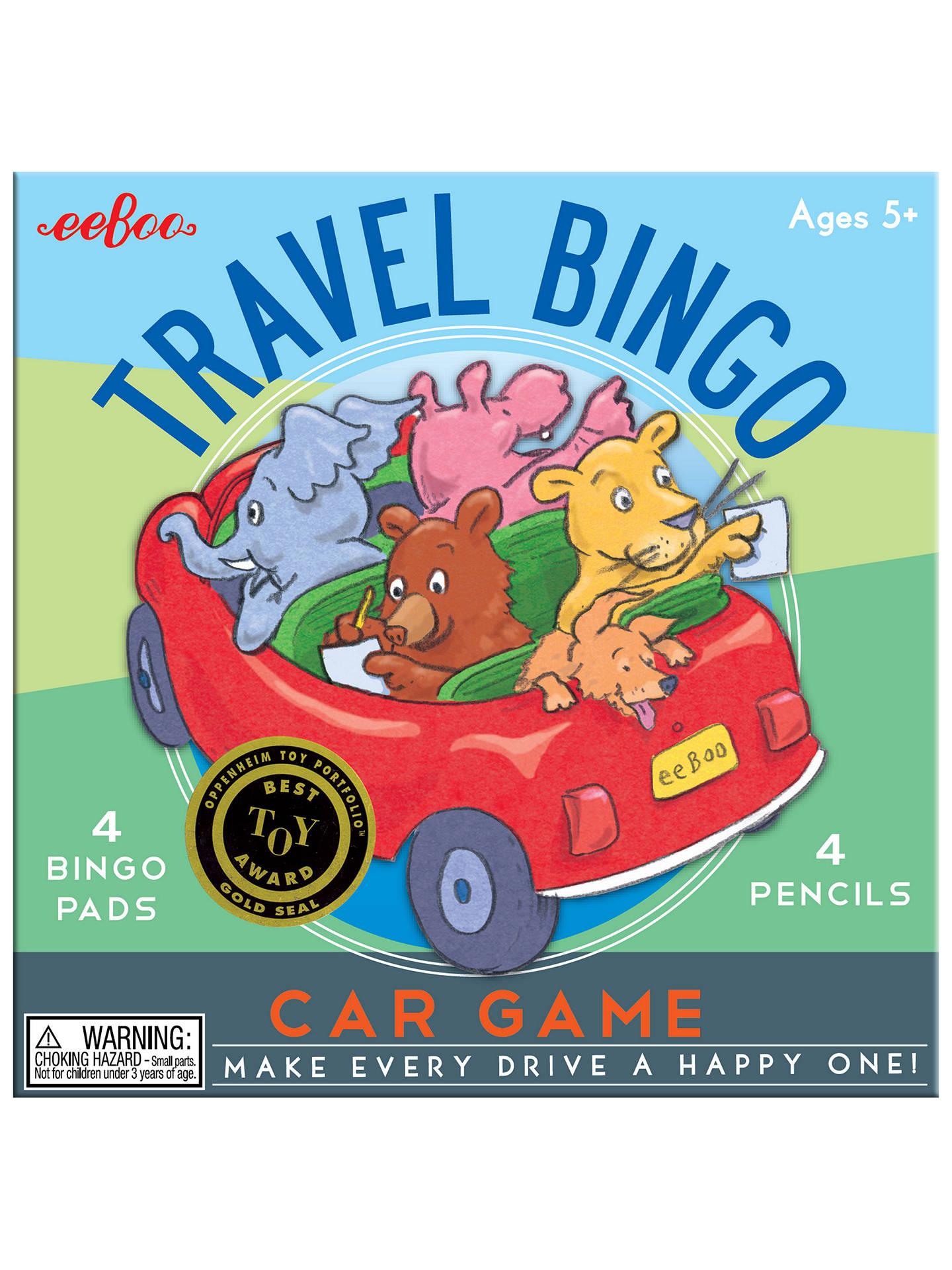 Eeboo Travel Bingo Car Game At John Lewis Partners