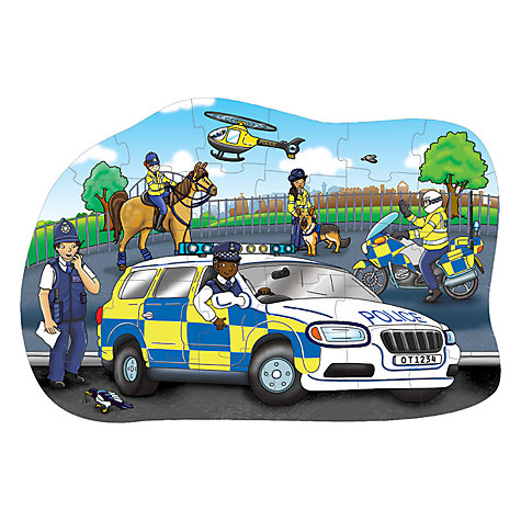 Buy Orchard Toys Big Police Car Floor Jigsaw Puzzle Online at johnlewis.com