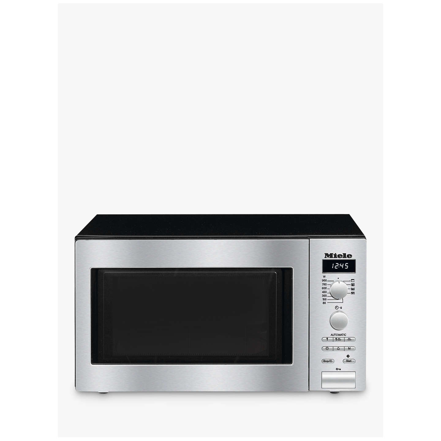 Miele M6012 Contourline Microwave Oven With Grill Stainless Steel Online At Johnlewis
