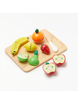 John Lewis & Partners Wooden Fruit Set