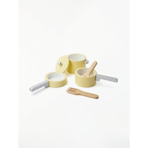 Buy John Lewis Wooden Pots and Pans Toy Set Online at johnlewis.com