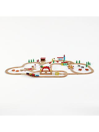 John Lewis & Partners Train Set, 120 Pieces