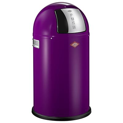 Wesco Pushboy Junior Bin, 22L Purple